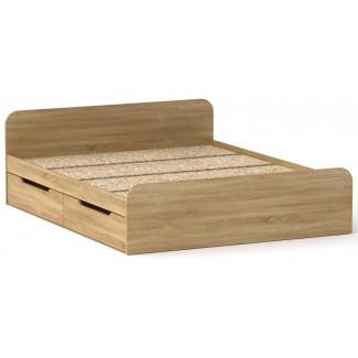 Кровать Виола-160 с 4 ящиками КОМПАНИТ