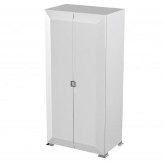KARAT White-GLOSS Шкаф для одежды 2-х дверная белый глянец