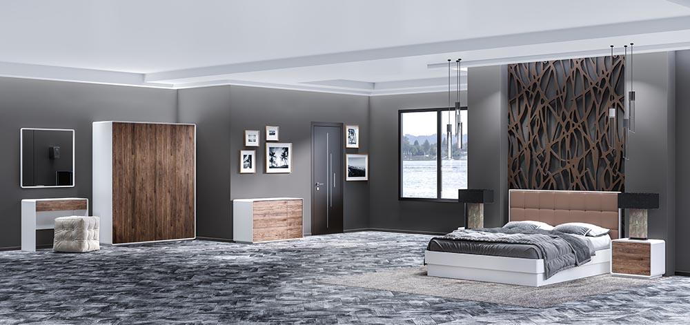 Подбор комплекта мебели для просторной спальни от магазина Оникс