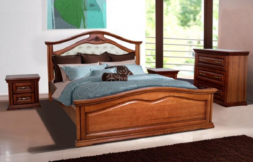 Двуспальная деревянная кровать в Одессе в магазине Оникс