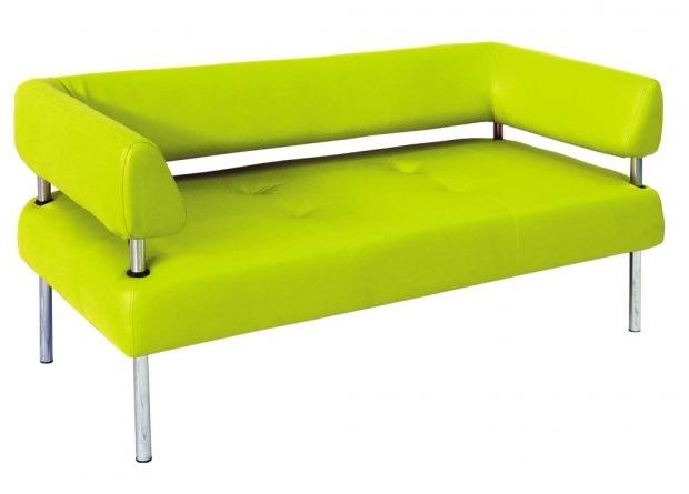 Офисный диван ярко-зеленого цвета, магазин «Оникс»