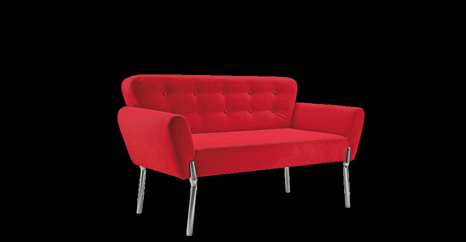 Красный диван для офиса с алюминиевыми ножками в магазине «Оникс», Одесса